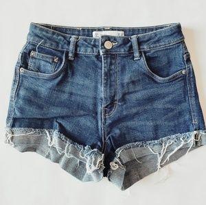 Zara High Rise Jean Short